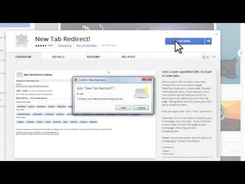 Changing Your New Tab Page - Chrome