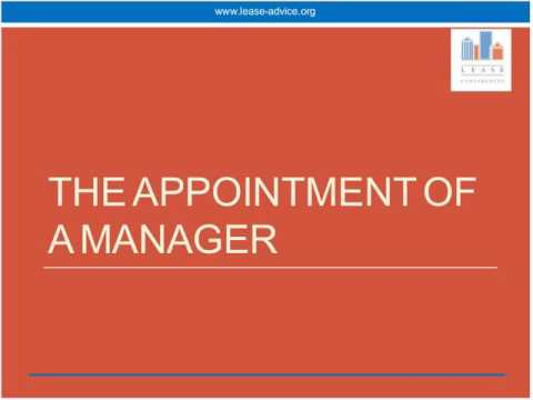 Appointment of a manager and compulsory acquisition