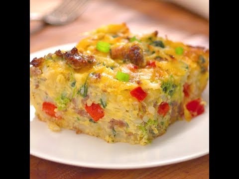 Sausage, Egg & Cheese Hash Brown Breakfast Casserole