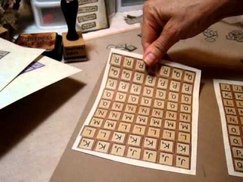 make your own scrabble letter tiles