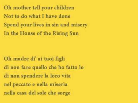 The House of the Rising Sun - Cover with lyrics (testo + traduzione italiano)