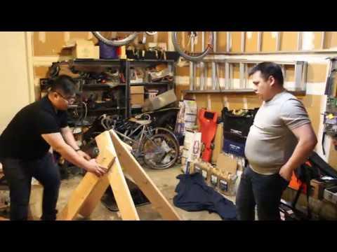 DIY Axe throwing target stand