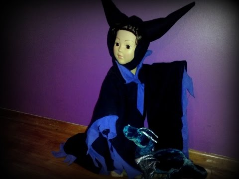 How to make a Maleficent 18 inch doll costume