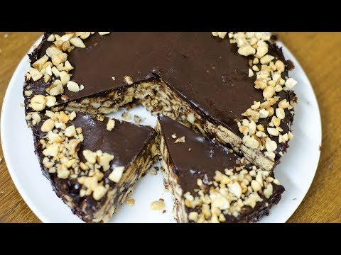 No Bake Chocolate Biscuit Cake - EGGLESS & WITHOUT OVEN