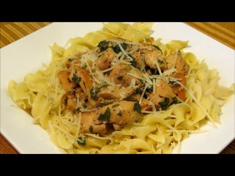 Chicken and Noodles - Lemon Basil Chicken and Noodles Recipe