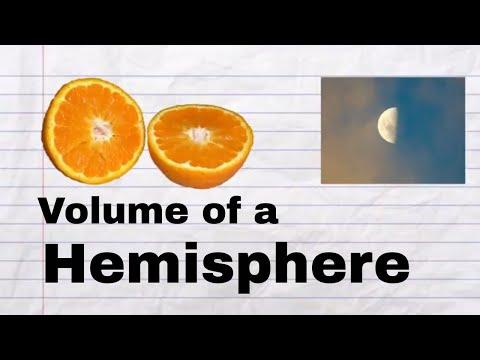 Volume of a hemisphere