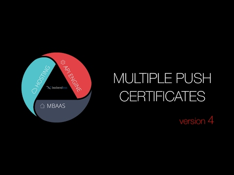 Multiple Push Notification Certificates in an App