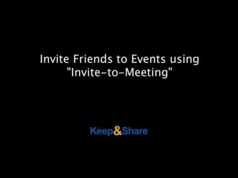 Invite people to meetings in your calendar & track RSVPs