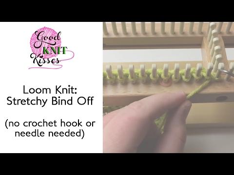 Loom Knitting Extra Stretchy Bind Off Flat Knitting Loom