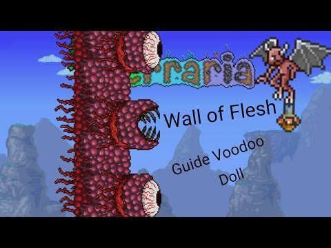 Terraria- Wall of Flesh- Guide Voodoo Doll