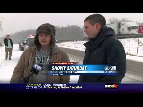 Snow storm coats roads, causes accidents