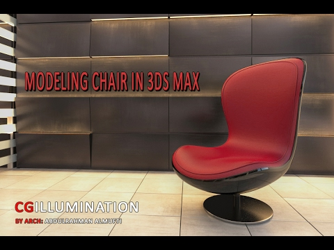3D Max Modeling Chair speed Overview : Edit Poly, Smoothing Groups