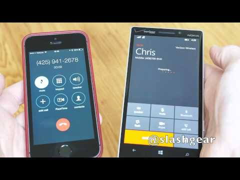 Windows Phone 8.1 voice to Skype video call handover demo