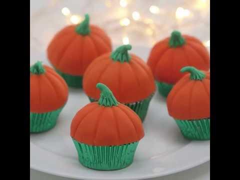 Halloween | Pumpkin Cupcakes | Snazaroo