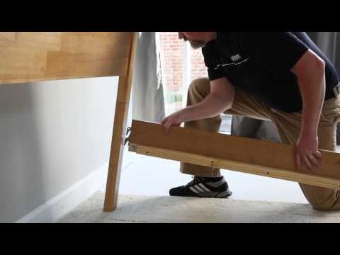 Wooden Side Rail Bed Replacement Set-Up with Acme Metal Products
