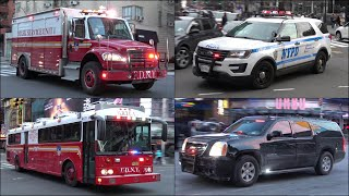 [Compilation] FDNY Fire Trucks, NYPD Police Cars, EMS and Emergency Vehicles Responding