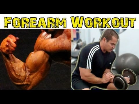 Forearm Workout With Dumbbells