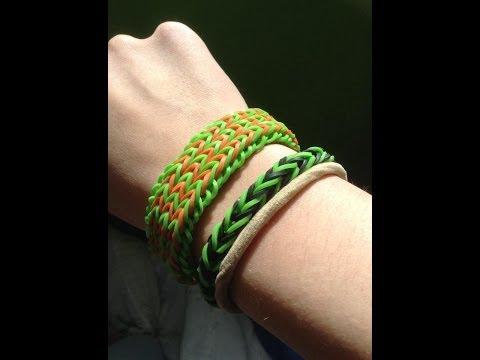 Rainbow Loom : Triple Fishtail bracelet