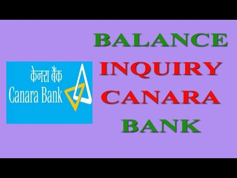 Balance Inquiry  Canara Bank