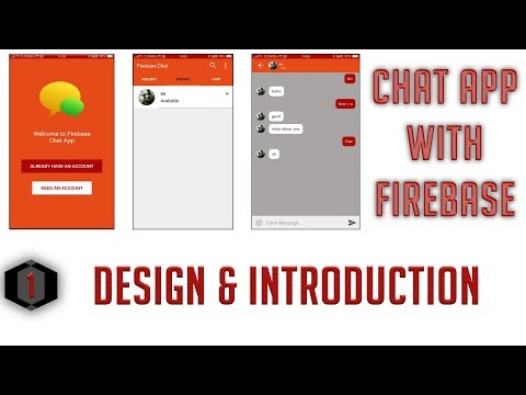Design and Introduction #1 Android Firebase Chat App in Hindi/Urdu
