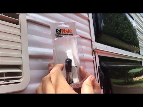 Installing an EziPlate on a Caravan