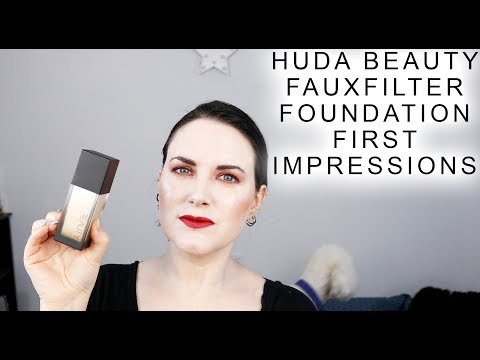 Huda Beauty FauxFilter Foundation - First Impressions of Milkshake on Pale Skin @phyrra