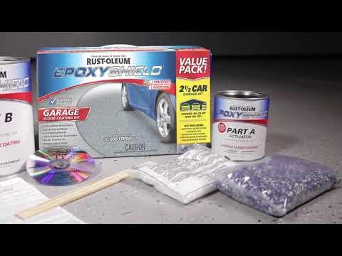 How to Use Rust-Oleum® Epoxyshield® Garage Floor Coating Kit to Transform Your Floor