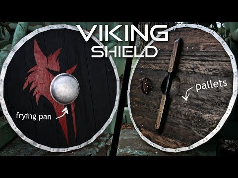 How to Make a Viking Shield Completely from Scrap (with FRYING PAN shield boss)