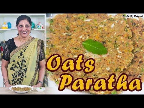 Oats Paratha Recipe   ओट्स पराठा   How To Make Oats Paratha