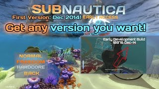 Playing the FIRST EVER Subnautica Version! | Exploring old Subnautica versions #1