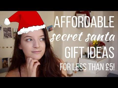 SECRET SANTA IDEAS FOR STUDENTS // Christmas presents for £5 and under!
