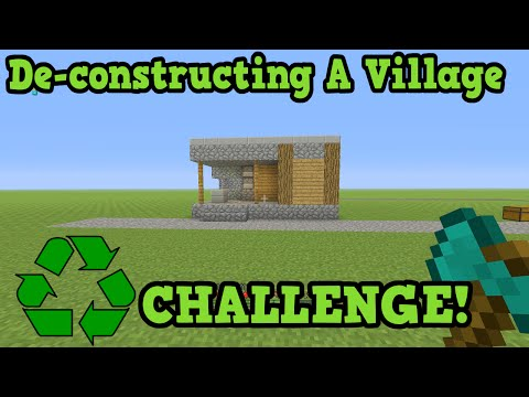 Minecraft NPC Village Deconstruction - Recycling Challenge