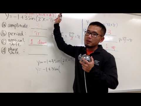 Amplitude, period, vertical shift, and phase shift