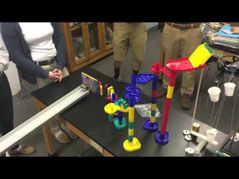 Heelan Rube Goldberg machine (2016, Physics Honors period 2)