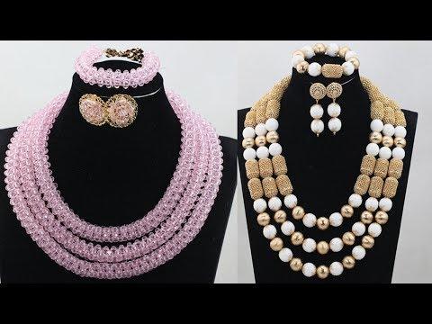 Latest Saree Matching 1gram Gold Long Pearl Chain Designs - She Fashion