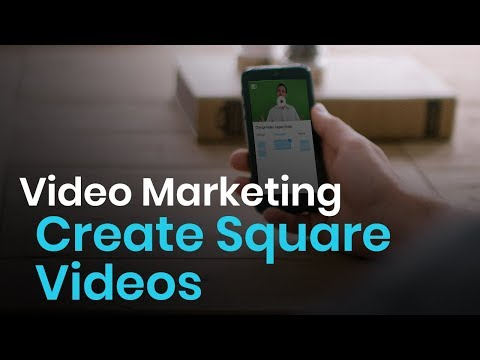 Video editor to create square videos for Instagram & Facebook
