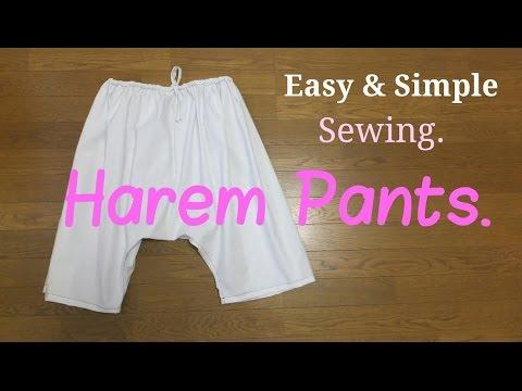 *DIY*Easy & Simple Sewing!!【*Harem Pants*】