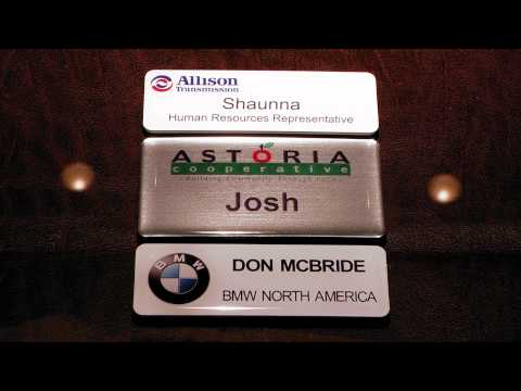 Domed Name Tags