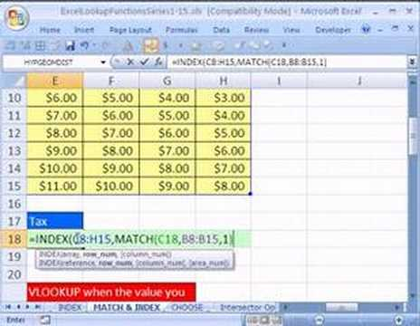 Excel Lookup Series #11: INDEX & MATCH functions Two 2 Way Lookup