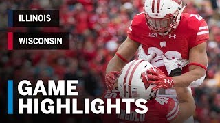 Highlights: Illinois at Wisconsin | Big Ten Football