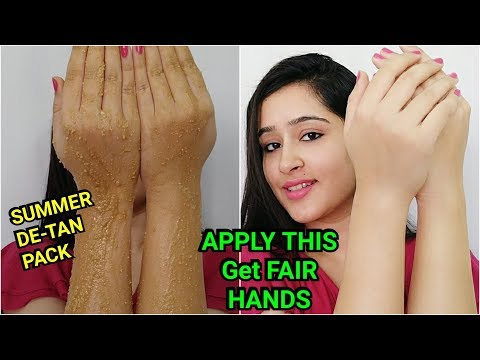 REMOVE SUN TAN + GET FAIR HANDS, LEGS, BACK, NECK | SUMMER MASK TO WHITEN SKIN