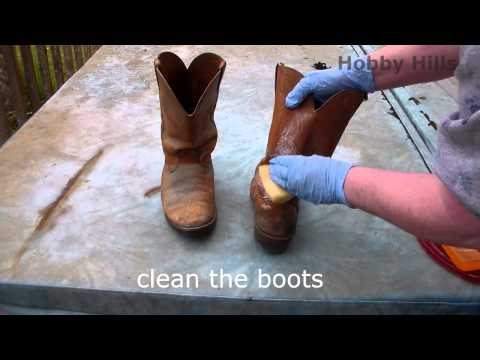 Remove mold from leather cowboy boots