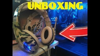 UNBOXING CASCOS GAMING PARA PC PS4 Y PS3 KOTION EACH - HEADSET