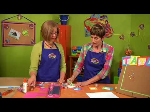 Initial bulletin board on Hands On Crafts for Kids with Katie Hacker and Candie Cooper (1609-4)