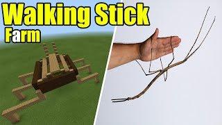 How to Make a Walking Stick Farm | Minecraft PE