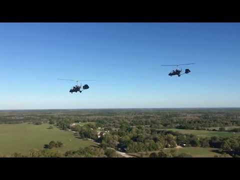 Two Gyrocopters Dual Landings