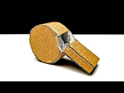 How To Make A Whistle From Cardboard DIY At Home