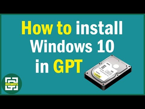 How to install Windows 10 on GPT disk using UEFI bootable USB | Using Rufus