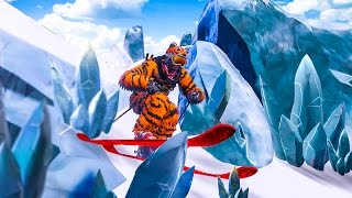 SKIING THROUGH ICE SPIKES! - STEEP GAMEPLAY