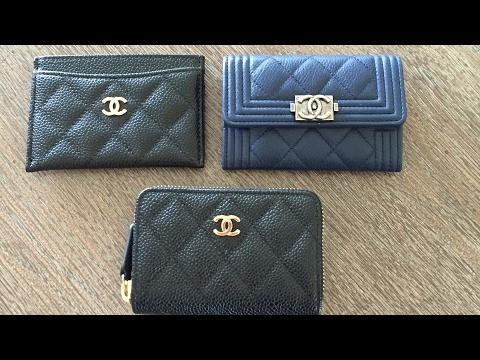 5fe9f6c5fdbc Chanel classic and boy coin purse comparison!